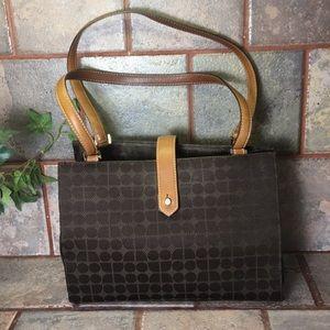Vintage Kate Spade Brown Satin downtowner handbag